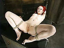 Redhair Sabrina Sparx Gets Her Bald Pussy Fingered And Vibrated