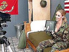 Military Newbie Nicole Aniston Has Her First Fuck In Camp With H