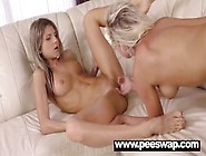 Pretty Naomi Pissed On By Cute Gina Gerson