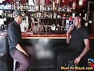 Hot Mom Fucks Two Black Guys In Bar