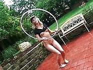 Handsome Blonde Teen Strips Outdoor In Her Naughty Game