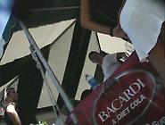 Bacardi Promotion Girls Upskirt