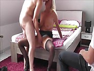 Husband Watching Wife Getting Fucked By Friend And Cummed On