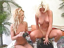 Lesbians Bring Out The Sybian To Get Off