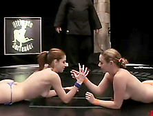 Paris Kennedy Makes Lesbian Love With Her Rival On Tatami