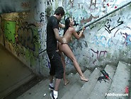 World Famous Dominatrix Down On Her Knees Crawling Naked Through