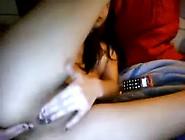 Adorable Teen Bates Fingers Ass Webcam