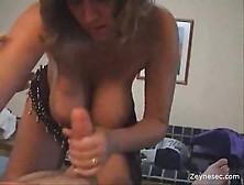 Busty Milf Services Cock