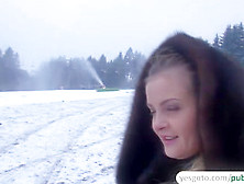 Beautiful Russian Babe Gets Picked Up And Fucked After Getting P