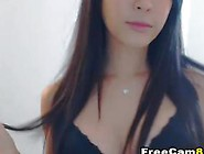 Asian Cam Girl Katie Poses During Live Show