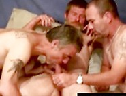 Overly Enthusiastic Mature Gay Bears Are Devouring A Cock Togeth