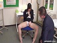 Busty Teacher In The Brake Room Toy Fucks Her
