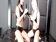 Kinky Lesbians Make Each Other Cum Using Rubber And Latex Fetish
