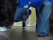 Jeans And Jordan Sneakers: Mopping The Piss Mess