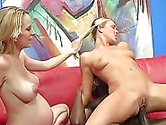 Pregnant Milf And Pigtailed Blonde Share A Bbc In Hardcore Ffm V