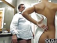 Grandpa Makes Loves To Teen Student Schoolgirl Fucks Pussy
