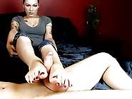 Tattoo Girl Footjob