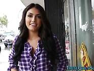 Teen Hottie Tugging Cock Video