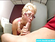 Cock Hungry Mature With Glasses Sucking