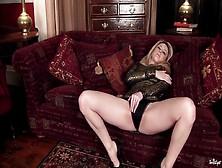 Hot Babe Orgasms In Posh Dress
