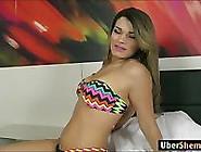 Latina Ts Paulinha Lima Anal Rides Cock