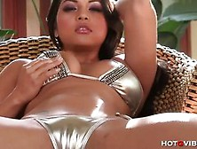 Stunner Adriana Luna Toys Her Mo