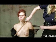 Blonde Slap And Whip Redhead