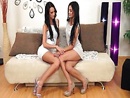 Two Black Haired Bitches Are Fucking One Another In A Kinky Way