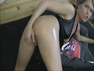 Sexy German Girl Self Fisting Her Tight Virgin Backside On Home