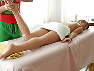 Blonde Sweetie Thouroughly Enjoys Her Massage