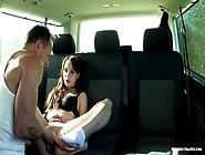 Fuckedintraffic - Czech Bitch Chelsy Sun Giving Blowjob In A Car