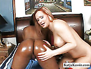 Oiled Up Busty Babes Katja And Kandice Go Wild With Glass Dildo