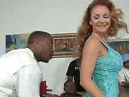 Tasty Janet Mason Gets Gangbanged Hard By Several Black Dicks