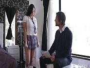 Teacher Spanks Sex Appeal Karly Grey And Cums On Her Nice Boobie