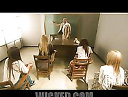 Naughty School Girls Blow Their Teacher's Big Cock In A Group Se