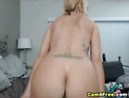 Russian Blonde Babe Toys Her Pussy