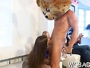 Big Stripper Bear Is Getting Sucked By A Randy Fan
