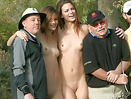 Amateur Teens Get Naked And Play On A Public Golf Course
