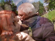 Redhead Young Slut Licking An Old Man