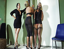 Dominant Mistress Captures Two Women