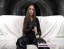 Lelu Love-Leather Boots Gloves Dildo Joi
