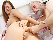 Lewd Redhead Teen Alyona Lets An Old Guy Fuck Her Cunt From Behi