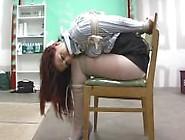 Girl Strappado Chairtied