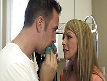 Handsome Stepson Is Ready To Fuck His Blonde Stepmom So Damn Har