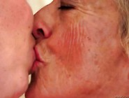 Blonde Granny And Young Brunette Enjoying Hot Sex