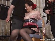 Submissive Caroline Pierces Spanking And Double Domination Of Pl