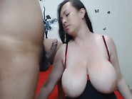 Big Titties Brunette Babe Gets Pussy Fucked