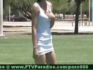 Inventive Hot Girl Public Flashing Tits And Pussy