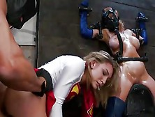 Two Superheroines In Dire Straits