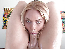 Flexible Senorita Is Oiled Up And Slammed With The Rock-Solid Di